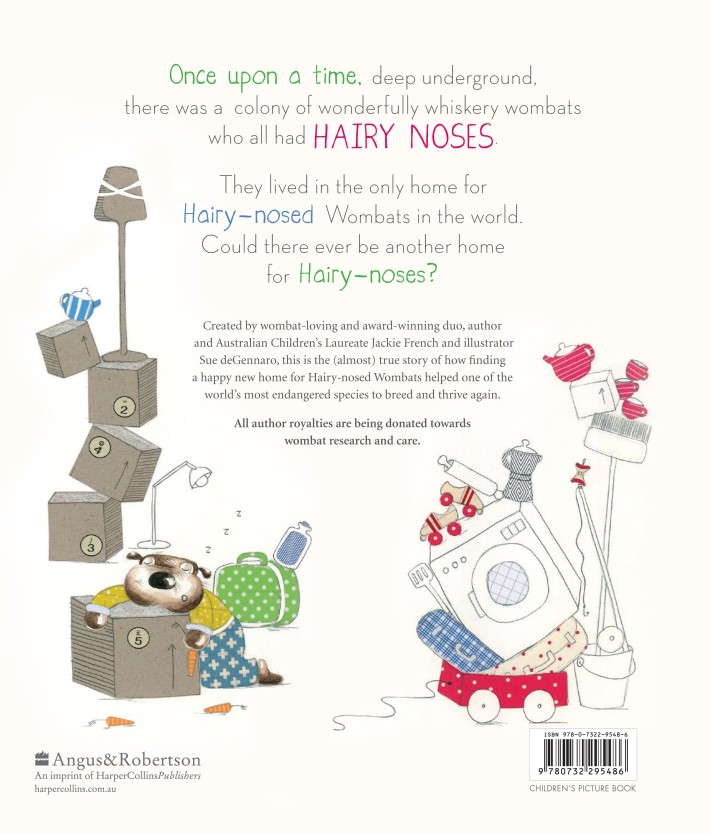 The Hairy-Nosed Wombats back cover